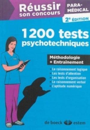 1200 tests psychotechniques - estem - 9782843716812 -