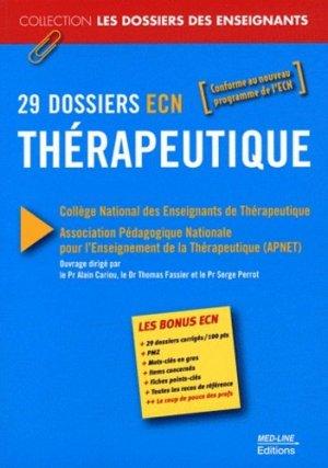 29 dossiers ECN Thérapeutique - med-line - 9782846781268