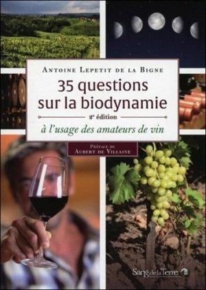 35 questions sur la biodynamie - sang de la terre - 9782869853164 -