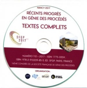 16eme congrès de la sfgp 2017, nancy. (cd-rom) - societe francaise de genie des procedes - 9782910239855 -