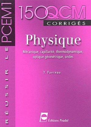 150 QCM corrigés Physique - pradel - 9782913996281