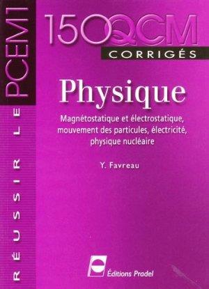 150 QCM corrigés Physique - pradel - 9782913996298