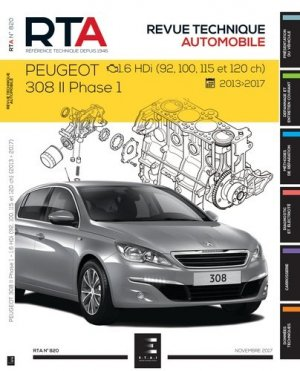 308 II ph.1 (de 2013 à 2017) - etai - editions techniques pour l'automobile et l'industrie - 9791028306151 -