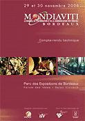 Mondiaviti 2006 Compte-rendu technique - institut francais de la vigne et du vin - 9782906417373 -