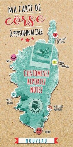 Ma carte de Corse à personnaliser - Cartothèque EGG Editions - 3700069748000 - majbook ème édition, majbook 1ère édition, livre ecn major, livre ecn, fiche ecn