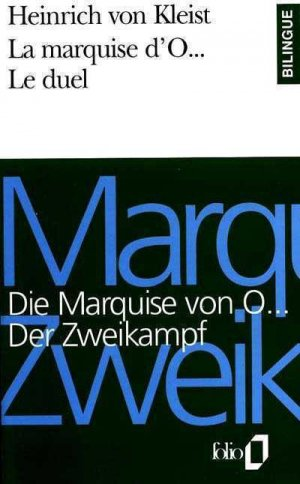MARQUISE D'O  - gallimard editions - 9782070384945 -