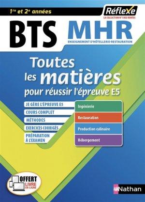 Management en hôtellerie-restauration BTS 1re et 2e année - Nathan - 9782091654799 -