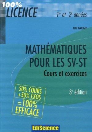 Mathématiques pour les SV-ST - ediscience - 9782100501076 -