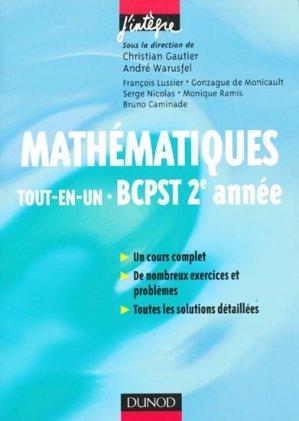 Mathématiques tout-en-un BCPST 2e année - dunod - 9782100521272 -