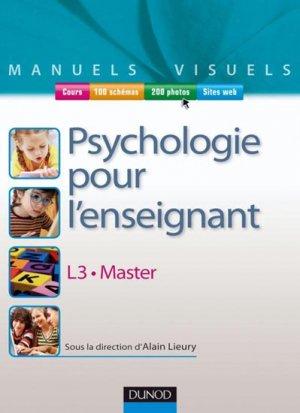 Manuel visuel de psychologie pour l'enseignant - dunod - 9782100533725 -