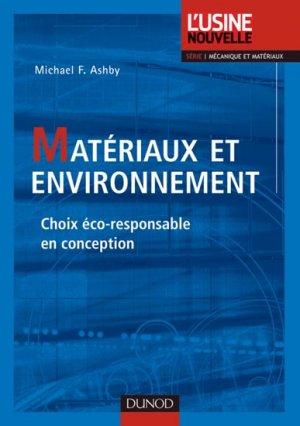 Matériaux et environnement - dunod - 9782100546978 -