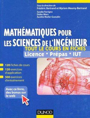 Mathématiques pour les sciences de l'ingénieur - dunod - 9782100570614 -