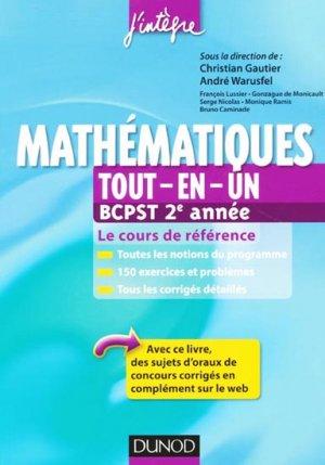 Mathématiques Tout-en-un BCPST 2e année - dunod - 9782100578764 -