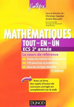 Mathématiques tout-en-un ECS 2e année-dunod-9782100578801