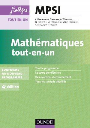 Mathématiques tout-en-un MPSI - dunod - 9782100726592 -