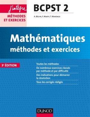 Mathématiques et informatique Méthodes et Exercices BCPST 2e année - dunod - 9782100749089 -