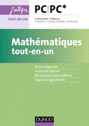 Mathématiques tout-en-un PC/PC* - dunod - 9782100761876