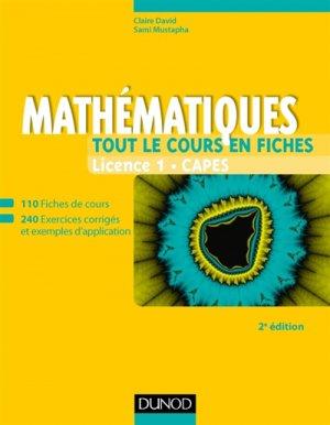 Mathématiques - Tout le cours en fiches - Licence 1 - Capes-dunod-9782100769322