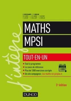 Mathématiques tout-en-un MPSI - dunod - 9782100776597 -