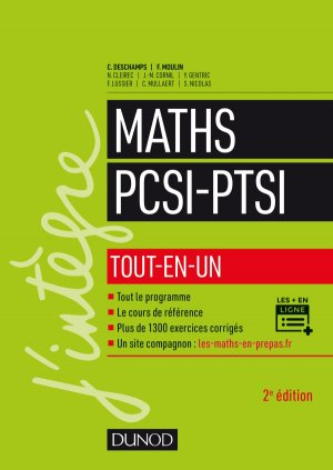 Mathématiques tout-en-un PCSI-PTSI - dunod - 9782100776603 -