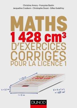 Mathématiques : 1350 cm3 d'exercices corrigés pour la licence - dunod - 9782100777129 -