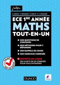 Maths ECE 1re année - dunod - 9782100778768 -