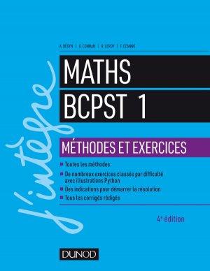Maths BCPST 1 Méthodes et Exercices - dunod - 9782100780976 -