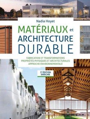 Matériaux et architecture durable - dunod - 9782100808830 -