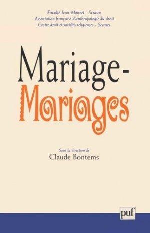 Mariage-Mariages - puf - presses universitaires de france - 9782130514299 -