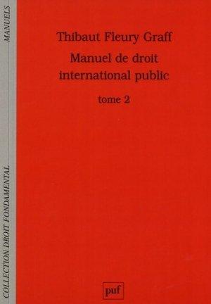 Manuel de droit international public. Tome 2 - puf - presses universitaires de france - 9782130653509 -