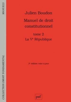 Manuel de droit constitutionnel - puf - 9782130822813 -
