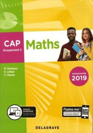 Mathématiques CAP groupement 2  - Delagrave - 9782206104140 -