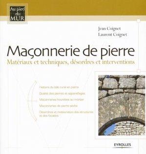 Maçonnerie de pierre - eyrolles - 9782212110579 -