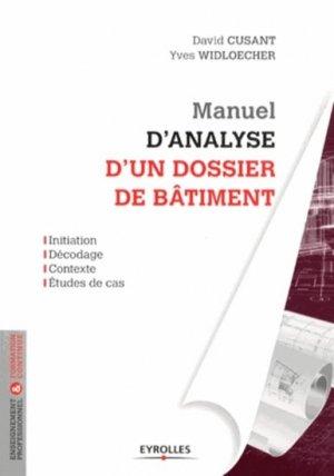 Manuel d'analyse d'un dossier de bâtiment - eyrolles - 9782212136173 -