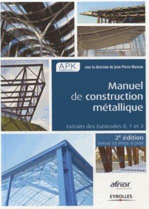 Manuel de construction métallique - eyrolles - 9782212138375 -