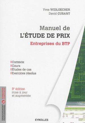 Manuel de l'étude de prix - eyrolles - 9782212144833 -