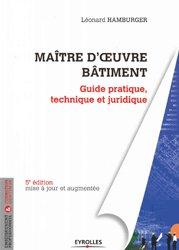 Maître d'oeuvre Bâtiment - eyrolles - 9782212676334 -