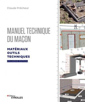 Manuel technique du maçon - eyrolles - 9782212676815 -