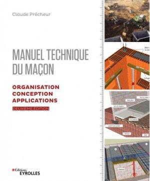 Manuel technique du maçon - eyrolles - 9782212676822 -