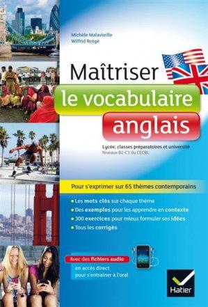 Maitriser le vocabulaire anglais - hatier - 9782218992070 -