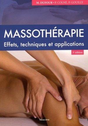Massothérapie - maloine - 9782224034689 -