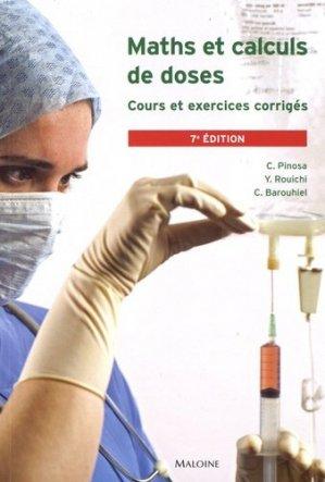 Maths et calculs de doses - Maloine - 9782224035129 -