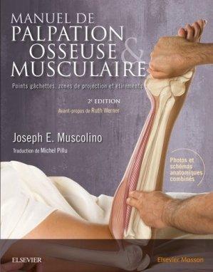 Manuel de palpation osseuse et musculaire - elsevier / masson - 9782294754852 -
