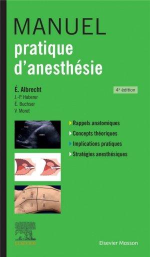Manuel pratique d'anesthésie - elsevier / masson - 9782294763052 -