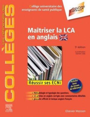 Maîtriser la LCA en anglais - elsevier / masson - 9782294763854 -
