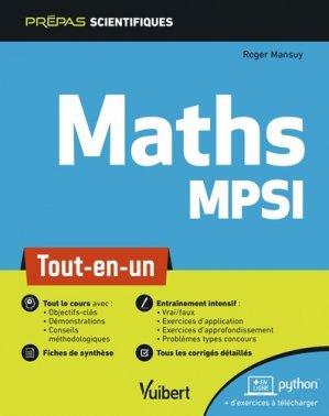 Mathématiques MPSI - vuibert - 9782311406757 -