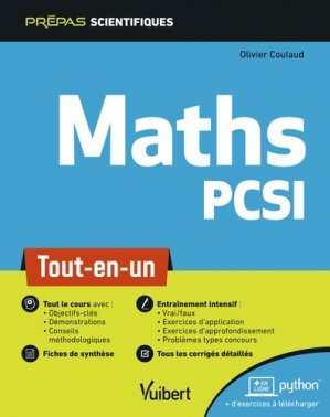 Mathématique PCSI - vuibert - 9782311406771 -