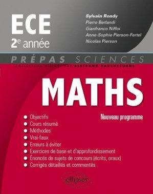 Mathématiques ECE 2e année - ellipses - 9782340000162 -