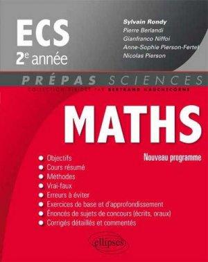 Maths ECS 2e année - ellipses - 9782340000179 -