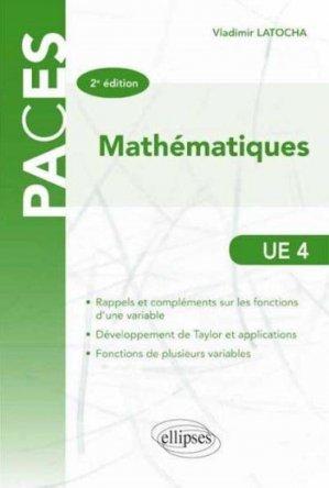 Mathématiques UE4 - ellipses - 9782340001824 -